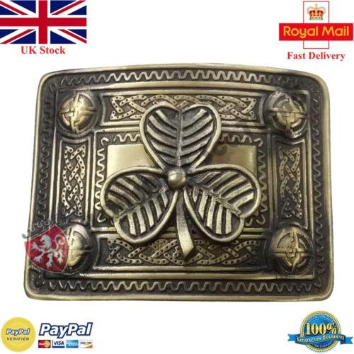Para Hombre Escocés Kilt Hebilla De Cinturón Diseño diferentes Acabado Antiguo Nudo Celta Hebilla