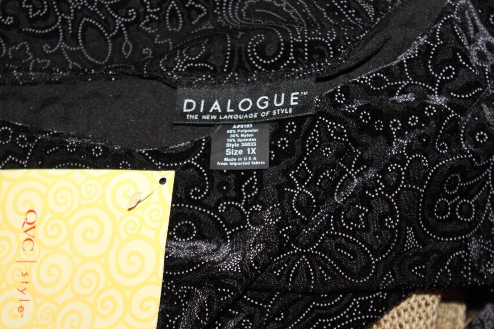 Nuevo Nuevo Nuevo con etiquetas Dialogue Terciopelo Burnout-Talla 1X Paisley azulsa Camisa Top Devoré arte rico 4d3c67