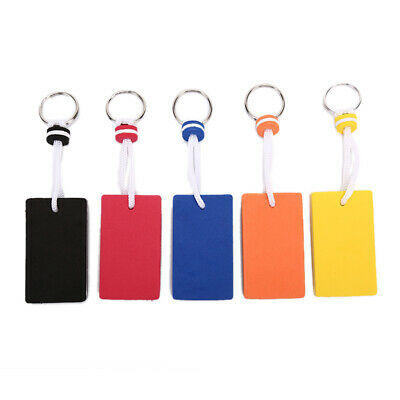 1pc EVA Floating Keychain For Water Sports Marine Boat Swimming Oval Keyring ME