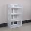 3//4//5 Tier Shoe Rack Storage Shelf Display Stand Organiser Unit Cabinet White UK