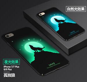 Dettagli su Custodia Posteriore luminosi per iPhone 6/7/8/X colore fluorescente cambiare hard case cover- mostra il titolo originale