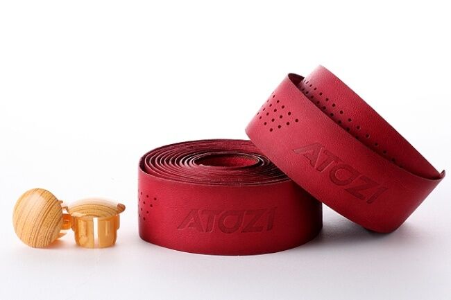 New Genuine Leather Bike Bicycle Cycling  Real Leather Handlebar Tape Wrap - Red  cheapest price