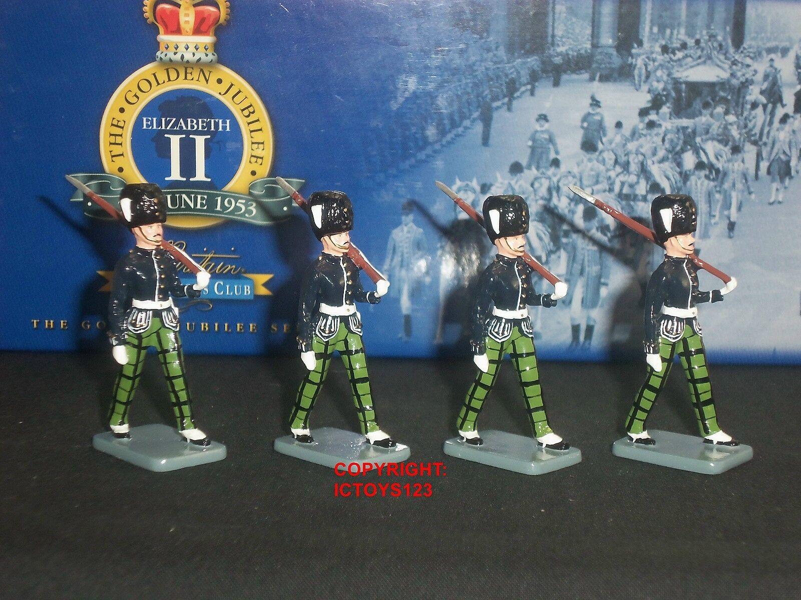 BRITAINS 40334 COLLECTORS CLUB ROYAL SCOTS FUSILIERS ESCORT TOY SOLDIER SET