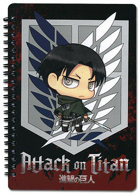 Attack on Titan Levi Chibi Spiral Notebook Note Book Anime NEW