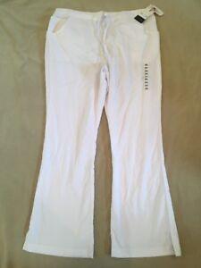 Katherine-Heigl-Scrub-Pants-White-Xl-Womens-Nwt-Flaw
