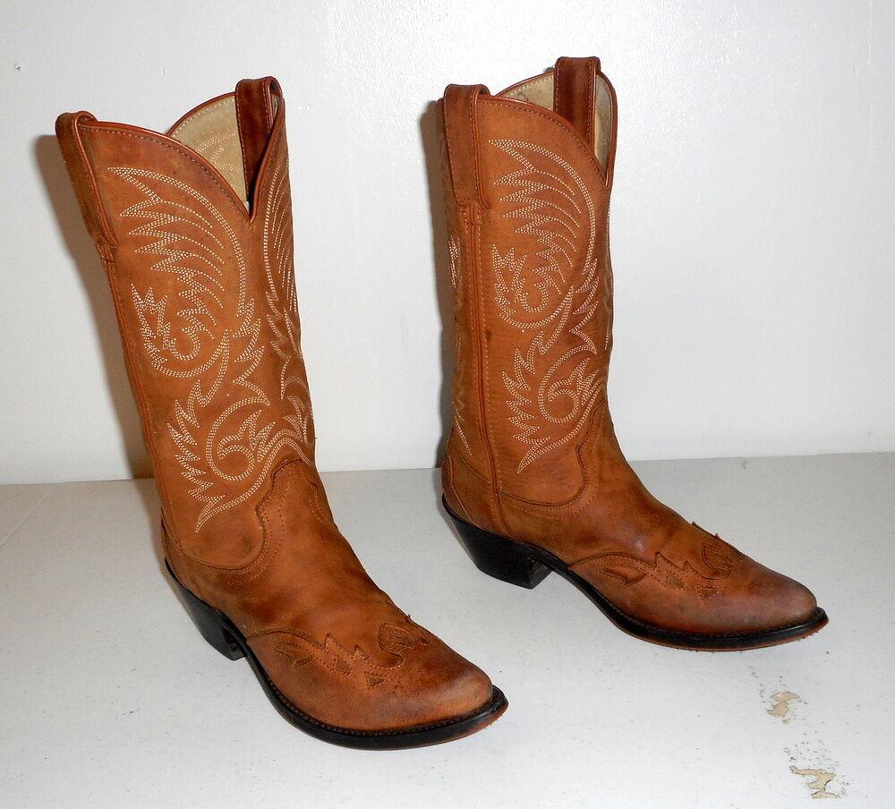 Mujeres 6.5 M botas De Vaquero Marca Durango Vaquera Zapatos Boho occidental Marrón Tostado