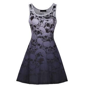 Women-Gothic-Vest-Dress-Skeletons-Skulls-Bones-Print-Ball-Gown-Sleeveless-Formal