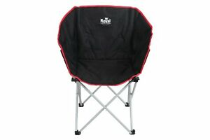 ROYAL-TUB-CHAIR-BLACK-WITH-RED-TRIM-ideal-CARAVANNING-MOTORHOME-CAMPING-FISHING