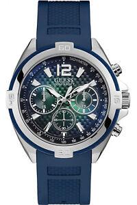 a925d17c786f La imagen se está cargando Reloj-Hombre-GUESS-SURGE-W1168G1-de-Goma-Azul