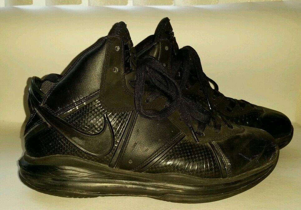 2010 LEBRON 8 TRIPLE BLACK SHOES BY NIKE SIZE 10 417098-001 ANTHRACITE BLACK