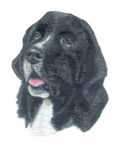Machine Embroidered Black /& White Newfoundland Applique 4.5WX5.5H or 2.2WX2.7H