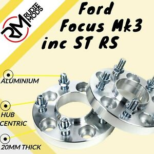 FORD-Focus-Mk3-INC-ST-RS-5x108-20mm-Hubcentric-Wheel-Distanziatori-1-COPPIA-fatta-in-UK