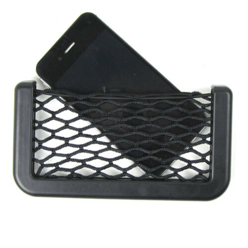 Car ABS Interior Body Edge Black Elastic Net Storage Phone Holder Accessories