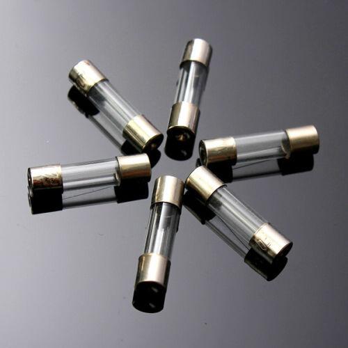 100pcs 5x20mm Quick Blow Glass Assorted Fuses Set 0.25//0.3//0.5//0.75//1//2//3//4//5//6A