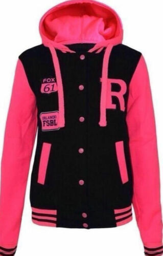 New Ladies Plus Size Baseball Varsity ORLANDO R FOX Jacket Hoodie size 16 to 28