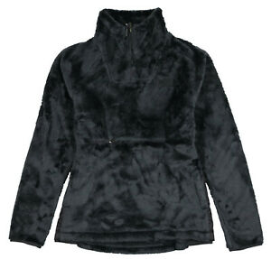 THE-NORTH-FACE-Women-039-s-Osito-1-4-Zip-Pullover-sz-L-Large-Weathered-Black-TNF
