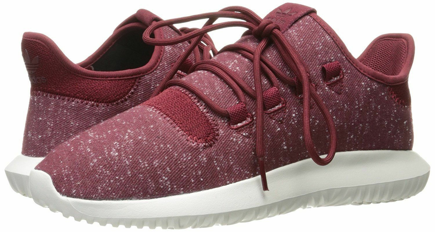 ADIDAS TUBULAR SHADOW LOW RUNNING SNEAKERS MEN SHOES BURGUNDY BY3571 SZ 9.5 NEW