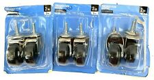 Everbilt 2 In Hard Rubber Threaded Stem Casters 49344 3 Packs X 2 6 Casters
