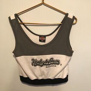 02cca0f82b1 Vtg Women's Harley Davidson Crop Top - Sturgis '91 - Harley Women ...