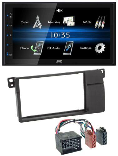 JVC USB 2DIN Bluetooth MP3 AUX Autoradio für BMW 3er E46 Rundpin großem Navi