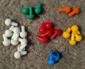 Mastermind Pegs Game Replacement Lot 10 RED  Key pegs ONLY
