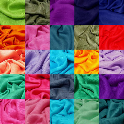 100% Viscose Plain Pashmina Scarf Shawl Stole Wrap High Quality Many Colours