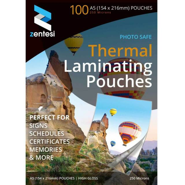 A3//A4//A5 Laminating Pouches Gloss 150//250 Micron Laminator Laminate Sheets