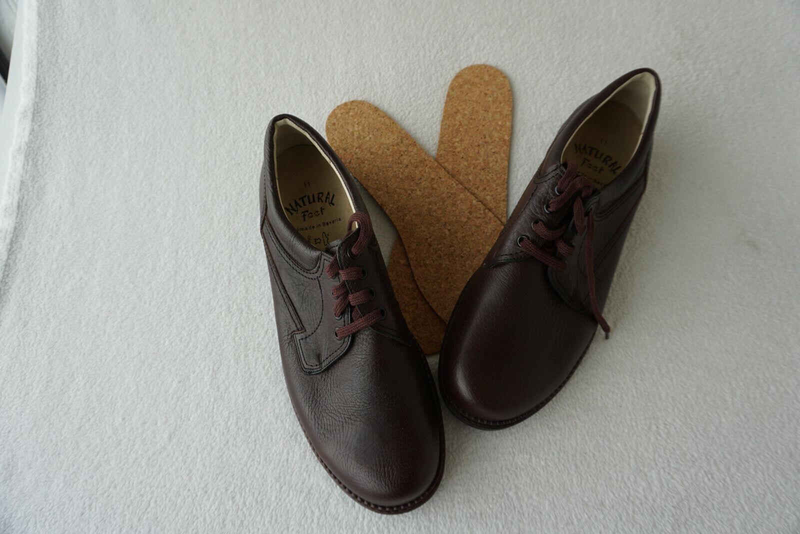 Orthopädische Natural Feet Herren Men Schuhe Schnürschuhe Gr.11   45,5 Leder NEU