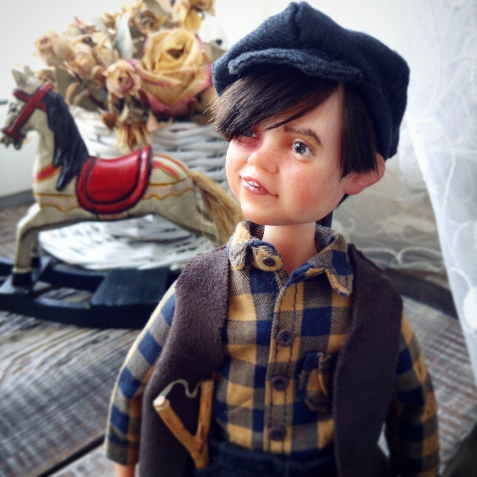 Uno de una clase, Souvenir de colección arte Muñeca, niño huérfano Jack (Boudoir Colector Muñeca)