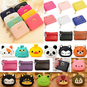 Cartoon Smile Girl Genuine Leather Girl Zipper Wallets Clutch Coin Phone For Women