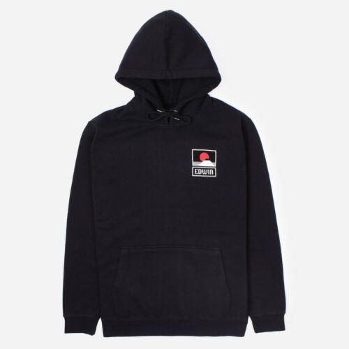 Edwin Sunset On Mount Fuji Hoodie Black RRP £90.00