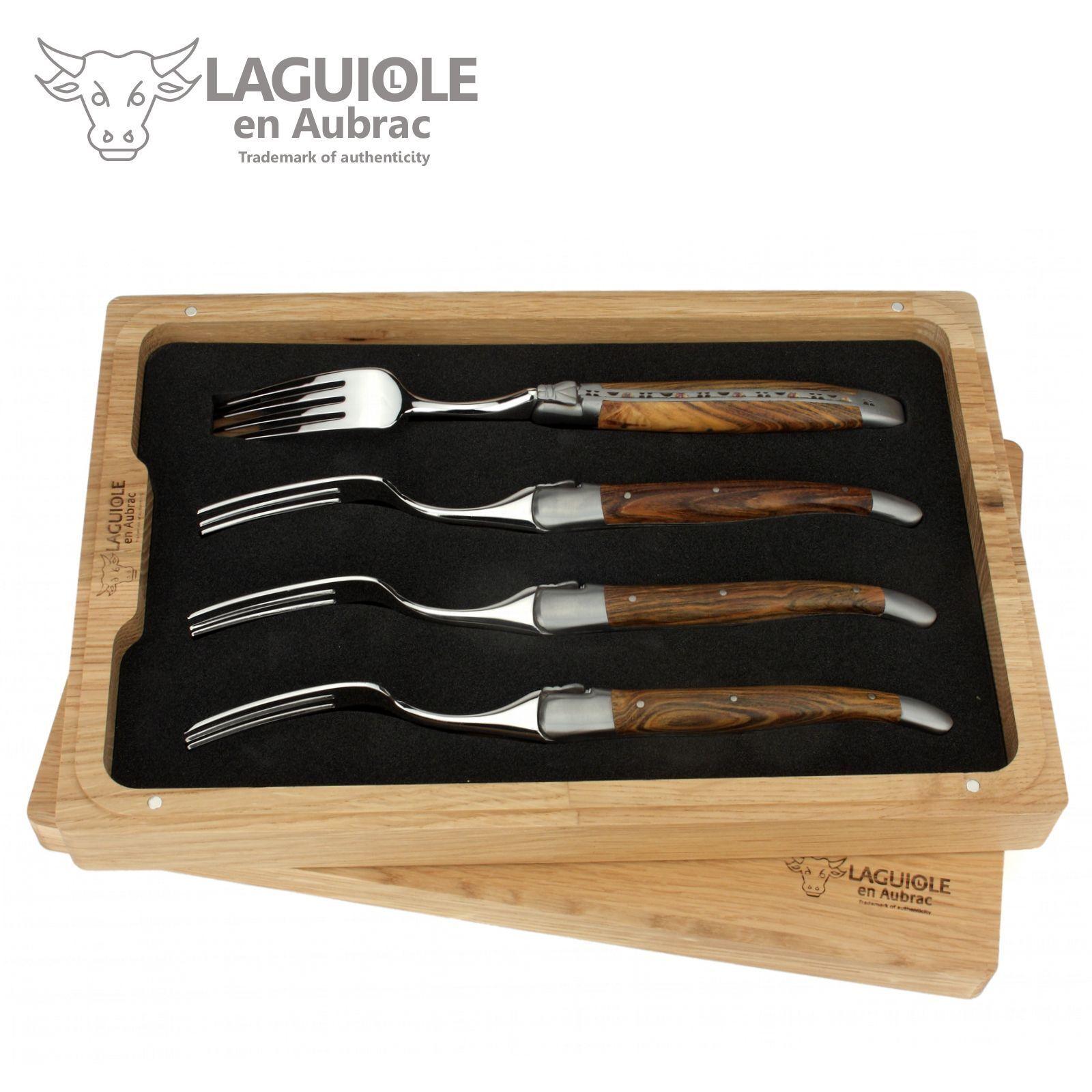 Laguiole en Aubrac-quatre fourchettes pistache-Convient à steak couteaux de table couteaux