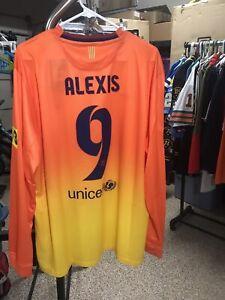 Nike-2012-2013-Alexis-Sanchez-XL-L-S-FC-Barcelona-Away-Shirt-Jersey-Kit-NWT