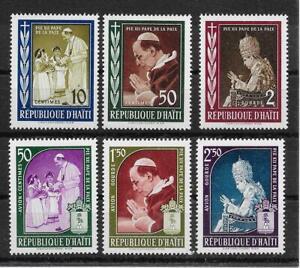 O403 Haïti/pape Pie Xii Minr 555/60 **