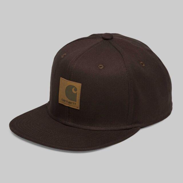 Cappellino Carhartt Logo Cap Tobacco Marrone Cappello Snapback ... c11754dd7ae0