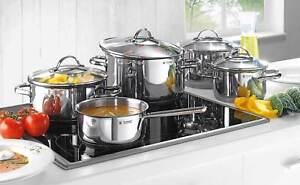 WMF-Provence-Plus-Batterie-de-Cuisine-5-Pieces-Casserole-amp-3-Marmite-Alcero-Inox