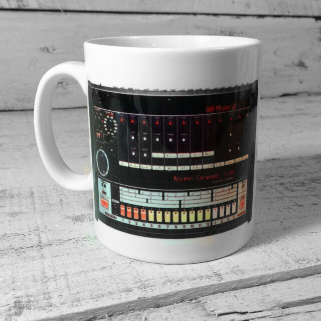 Roland Tr-808 Rhythm Composer Drum Machine Gift Cup Mug Present Music
