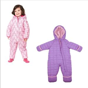 Snozu-Weatherproof-Fleece-Lined-Hooded-Snowsuit-Baby-Girls-Size-amp-Color-Variety