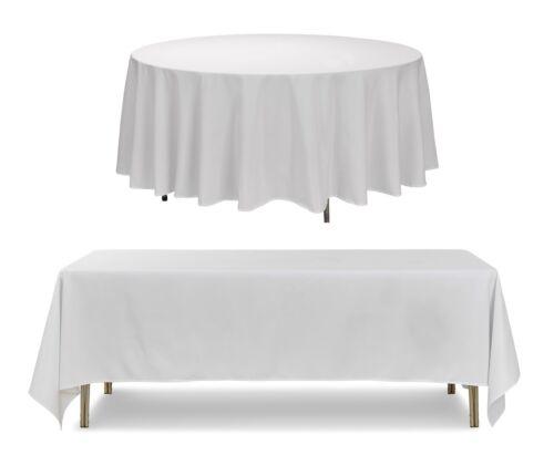 noir blanc ivoire Mariage Fête Banquet Polyester Nappe rond rectangle