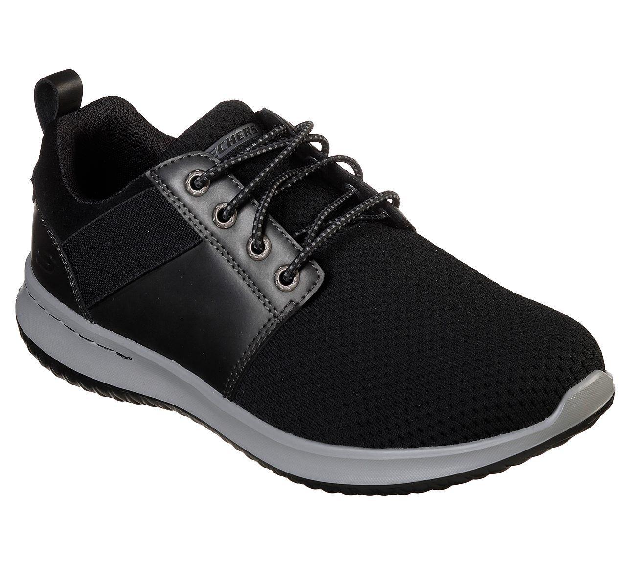 Skechers shoes Black Men's Air Memory Foam Comfort Casual Sporty Flex Mesh 65642