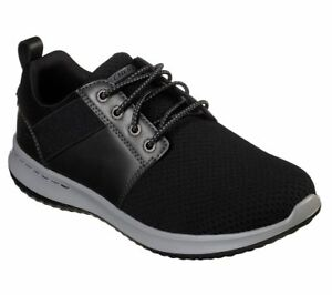 Skechers-Scarpe-Nero-Men-039-s-Air-Memory-Foam-Comfort-Casual-Sportiva-Mesh-FLEX-65642