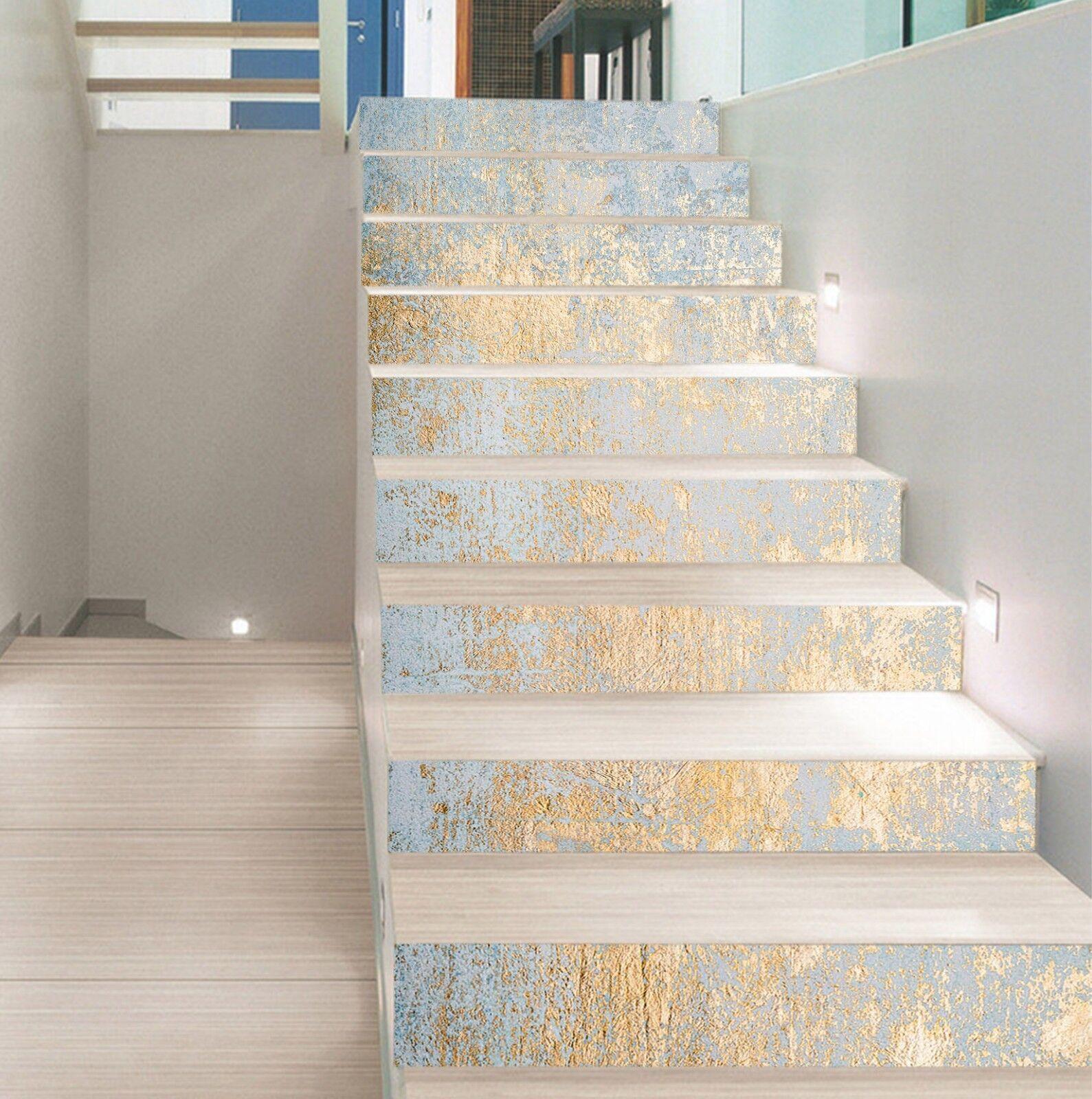 3D Mode Gold Kunst 2 Fliesen Marmor Stair Risers Vinyl Tapete Fototapete DE
