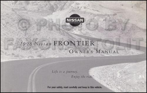 1998 Nissan Frontier Owners Manual Original OEM Pickup Truck Owner User Guide