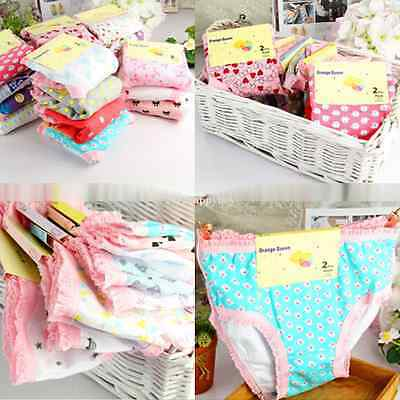 6PCS Lovely Cotton Baby Girls Pettiskirt Ruffle Panties Briefs Bloomer Fit 0-12Y