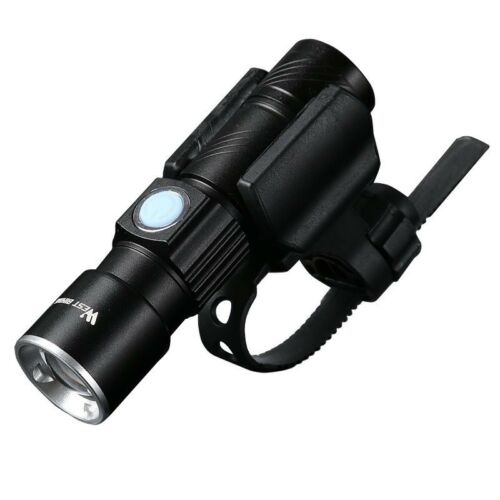 Bicycle Front LED Flashlight Bike Ultrabright Stretch Lamp 200m USB Rechargeable