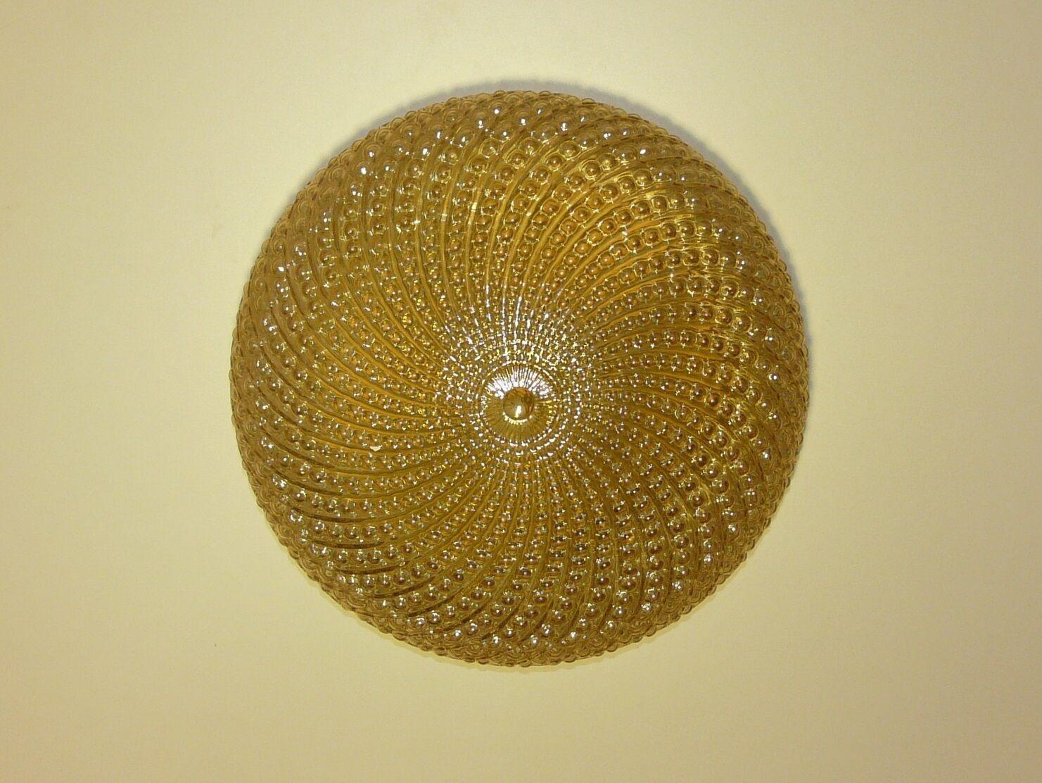 Plafoniere Kristall Antik : Vintage ceiling fixture plafoniere amber brass kaiser