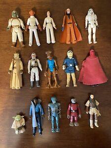 Star Wars Kenner Figures Lot of 15 Vintage Figures 1977-1983