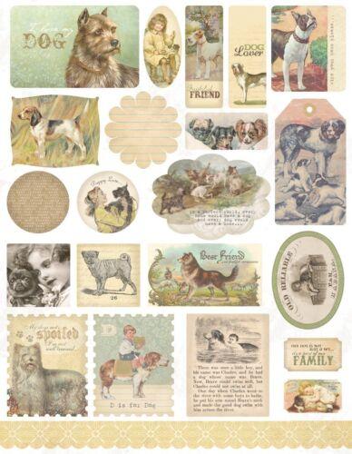 Melissa Frances Dog Gone Cute a4 Sticker Sheet