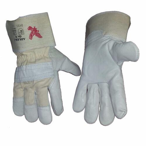 12 Paar 40091 Arbeits Rindleder Handschuhe doppelt vernäht Gr 2,67 €//St. 10,5