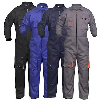 NORMAN Grey Mens Coveralls Boiler Suit Overalls for Warehouse Mechanics Work Wears